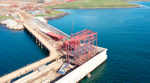 Construction work continues on the Morstroytechnology-designed VaninoTransUgol' terminal