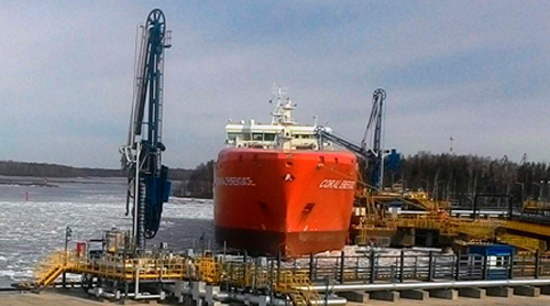 First LNG consignment despatched from the quays of the Port of Vysotsk, designed by Morstroytechnology