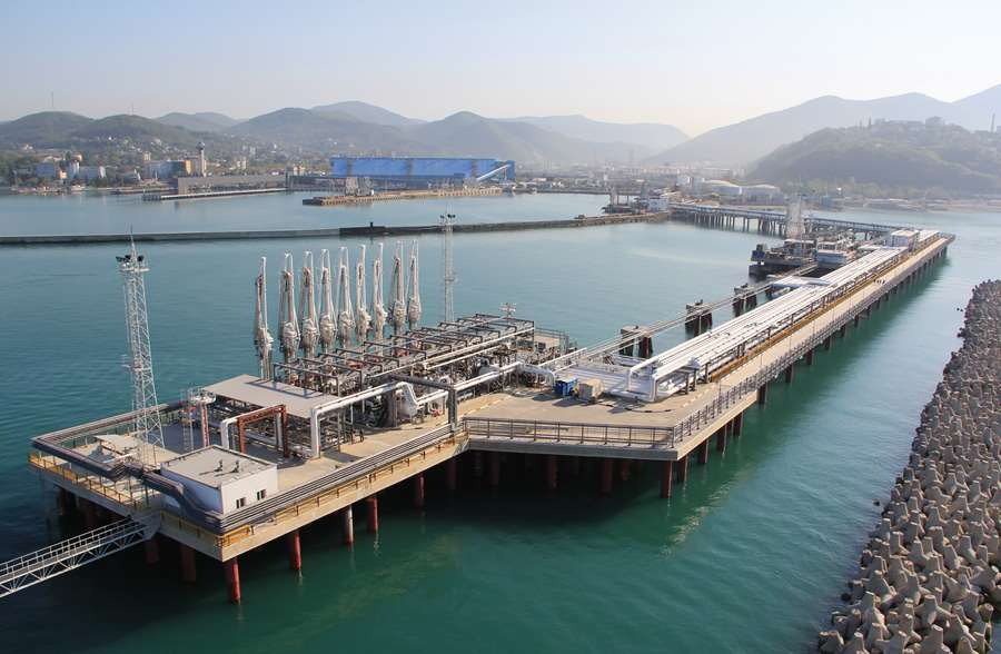 Deepwater berth 1a for Tuapse refinery. Port of Tuapse (Black sea basin)