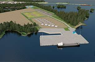 LNG production and transshipment terminal at the port of Vysotsk
