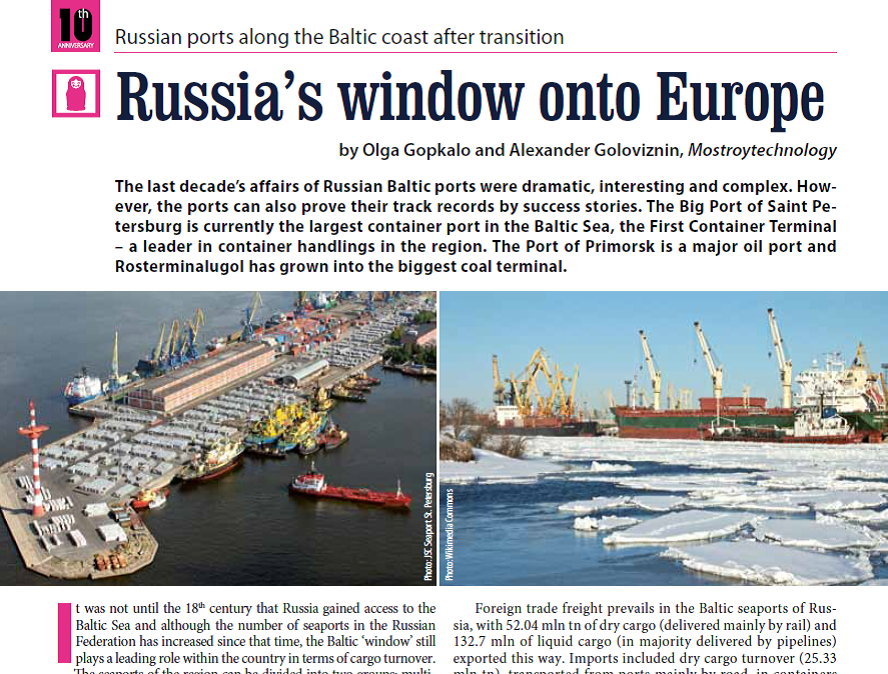 Russia's window onto Europe. Russian ports along the Baltic coast after transition.